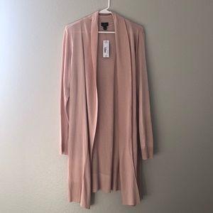 Light pink long cardigan